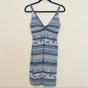 Tommy Bahama Dress -S blue /white ,nylon /spandex